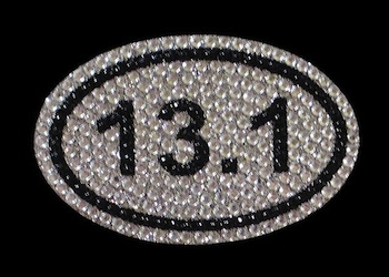 View Rhinestone Sticker Marathon 13.1 Run Image 1
