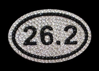 View Rhinestone Sticker Marathon 26.2 Run Image 1