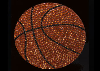 View Rhinestone Sticker Basketball Image 1