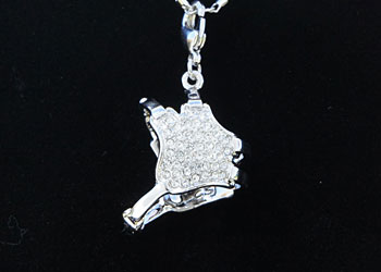 Wrestling necklace features a wrestling headgear charm as a pendant wrestling headgear white aloadofball Image collections