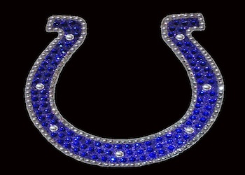View Rhinestone Sticker Horseshoe Colts Image 1