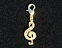 View Music Note Treble Clef Gold Image 2