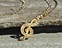 View Music Note Treble Clef Gold Image 3