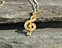 View Music Note Treble Clef Gold Image 4