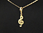 View Music Note Treble Clef Gold Image 9