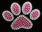 View Rhinestone Sticker Paw Pink Image 1