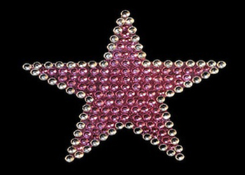View Rhinestone Sticker Star Pink Image 1