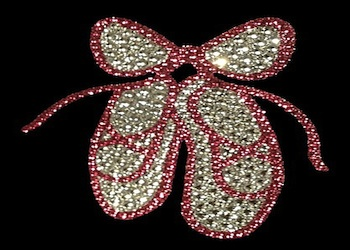 View Rhinestone Sticker Ballet Slippers Image 1