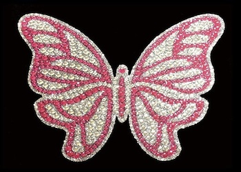 View Rhinestone Sticker Butterfly 2 Image 1