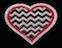 View Rhinestone Sticker Chevron Heart Image 1
