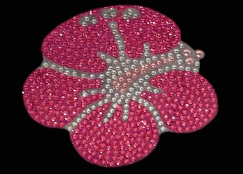 View Rhinestone Sticker Hawaiian Hibiscus Image 1