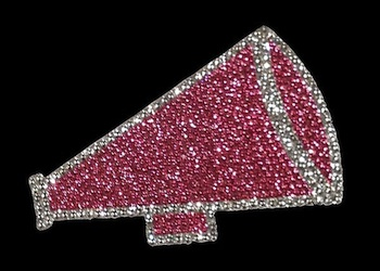 View Rhinestone Sticker Cheer Hot Pink Image 1