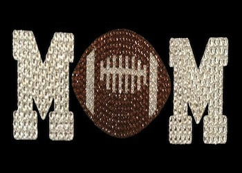 View Rhinestone Sticker Football Mom Image 1