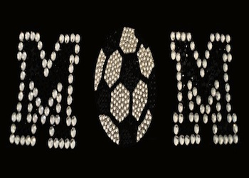 View Rhinestone Sticker Soccer Mom Image 1