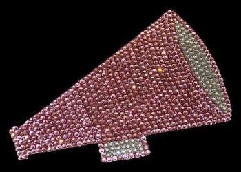 View Rhinestone Sticker Cheer Pink Image 1