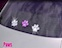View Rhinestone Sticker Paw Purple Image 2