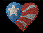View Rhinestone Sticker American Flag Heart Image 1